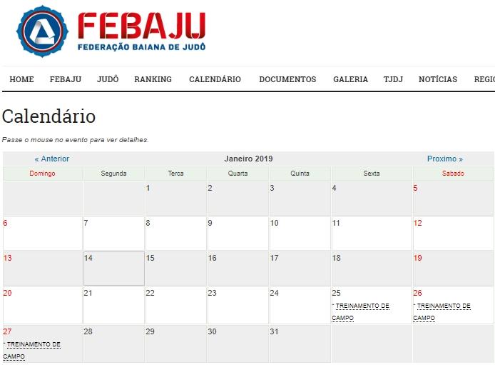 Calendario 20017.Ja Conferiu O Calendario 2019 Da Febaju Fique Por Dentro
